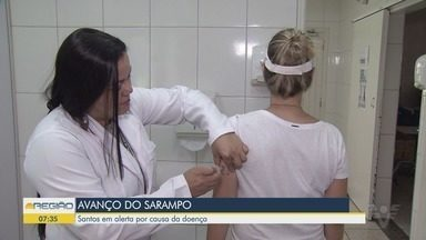 Vila Belmiro recebe bloqueio vacinal contra o sarampo - Santos permanece em alerta após suspeita de novo caso da doença.