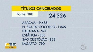 Mais de 24 mil títulos de eleitor são cancelados em Sergipe - Segundo o Tribunal Regional Eleitoral, maioria dos cancelamentos foi registrado em Aracaju.