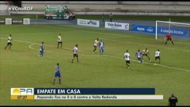 Paysandu empata sem gols com o Volta Redonda no Mangueirão - Torcida sai decepcionada com o resultado, que deixa o Papão fora do G4 na Série C