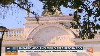 Ordem de serviço é assinada para reforma do Theatro Adolpho Mello em São José - Ordem de serviço é assinada para reforma do Theatro Adolpho Mello em São José
