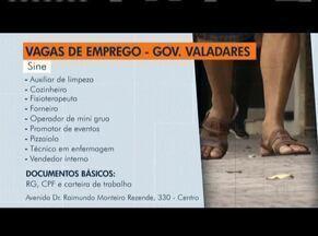 Confira as vagas de emprego disponíveis em Governador Valadares e Caratinga - Oportunidades são para vagas em diversos níveis.