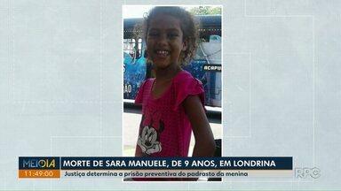 Justiça determina a prisão preventiva do padrasto da menina Sara, de 9 anos - Sandro Machado, padrasto de Sara, de 9 anos, confessou ter estuprado e matado a menina.