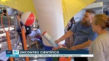 Visitantes se encantam com tecnologia no mais encontro científico da América Latina - Em Campo Grande.