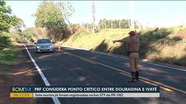 PRF considera perigoso trecho de rodovia entre Douradina e Ivaté - Sete mortes já foram registradas no km 579 da PR-082.