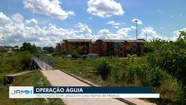 Três homens são presos durante operação da PM em Manaus - Eles foram indiciados por porte de arma.