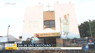 Católicos celebram o dia de São Cristóvão com programação especial - O santo, que é considerado o padroeiro dos motoristas, dá nome a paróquia e a um bairro de Salvador.