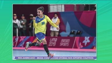 Brasil começa com vitórias no vôlei de praia e no handebol no Pan-americano de Lima - Brasil começa com vitórias no vôlei de praia e no handebol no Pan-americano de Lima