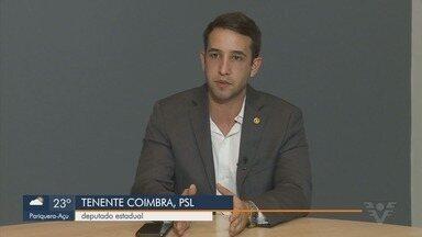 Deputado do PSL, Tenente Coimbra fala sobre primeiro semestre de mandato - Parlamentar falou sobre ações feitas e projetos na Assembleia Legislativa de São Paulo.
