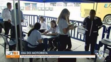 Dia do Motorista tem programação especial em Santos, SP - Data é comemorada em homenagem a São Cristóvão. Rodoviária da cidade recebeu atividades para celebrar a data.