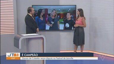 Bailarino de Cubatão, SP, vence disputa no Festival de Joinville - Daniel, de apenas 13 anos, é a nova estrela da dança da região.