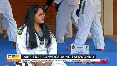 Juazeirense é convocada no taekwondo para disputar campeonato brasileiro - Saiba mais em g1.com.br/ce