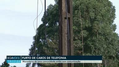 Ladrões furtam cabos de telefonia em Francisco Beltrão - Pela segunda vez moradores de uma comunidade de Francisco Beltrão ficam sem comunicação.