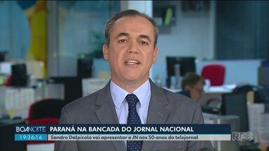 Sandro Dalpícolo vai apresentar Jornal Nacional - Jornalista da RPC foi um dos escolhidos para apresentar uma das edições em comemoração aos 50 anos do telejornal.