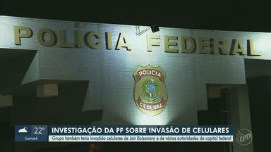 PF diz que suspeitos presos por invasão a celulares tiveram como alvo o presidente - De acordo com a Polícia Federal, grupo também teria invadido os aparelhos de Jair Bolsonaro e de outras autoridades de Brasília.