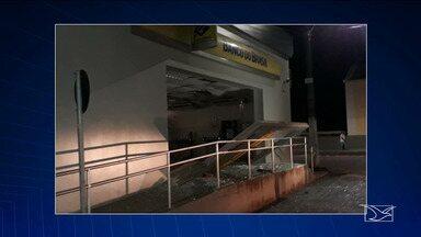 Polícia continua buscas por bandidos que tentaram assaltar agência bancário em Rosário - Segundo a polícia, quatro homens usaram dinamite para explodir um dos caixas eletrônicos na madrugada de quinta-feira (25).