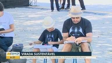 Virada Sustentável Manaus tem mais de 150 atividades em diversos pontos - Evento reuniu várias famílias no Centro de Manaus.