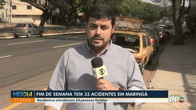Trânsito: Maringá tem 33 acidentes no fim de semana - Colisões deixaram 34 pessoas feridas, segundo os socorristas.