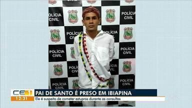 Pai de santo é preso suspeito de cometer estupros durante as consultas - Saiba mais em g1.com.br/ce
