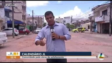 Moradores do bairro da Pedreira aguardam asfaltamento - Rua está cheia de buracos.