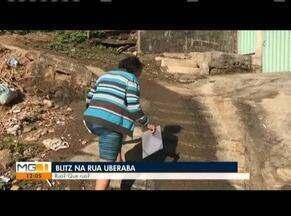 Blitz do MG mostra reivindicação de moradores por asfalto em rua em Governador Valadares - Rua Uberaba, no Bairro Jardim Pérola, convive com problemas.