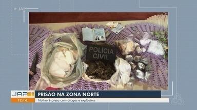 Mulher é presa com explosivos que seriam usados em muro de penitenciária do AP - Suspeita também estava com 2,3 quilos de drogas quando foi detida no sábado (27), em Macapá.