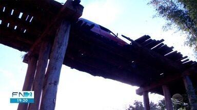 Moradores de Caiabu reclamam de ponte sem conserto - Acesso foi interditado, e até agora, nenhuma providência foi tomada