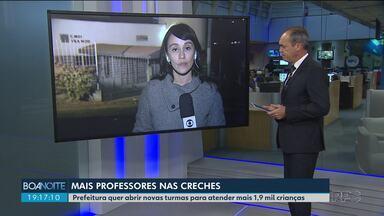 Prefeitura anuncia a contratação de mais de 250 professores para a educação infantil - O objetivo é atender mais 1,9 mil crianças, que estão na fila de espera por uma vaga em creches de Curitiba.