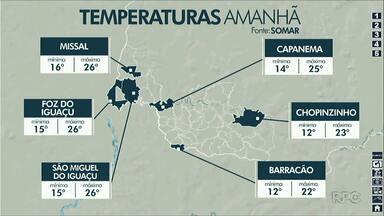 Semana começou com temperaturas altas e devem terminar gelada - As máximas ficam em torno de 26 graus nesta terça-feira.