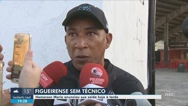 Técnico Hemerson Maria pede demissão no Figueirense - Técnico Hemerson Maria pede demissão no Figueirense