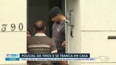 Polícia investiga surto de PM que atirou dentro de prédio em Vila Velha, ES - Perícia utilizou laser para identificar trajetória dos tiros.