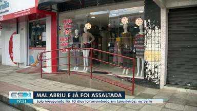 Loja inaugurada há 10 dias é arrombada na Serra, ES - Suspeitos conseguiram levar uma quantia em dinheiro, um aparelho de som e mercadorias, segundo a dona do estabelecimento.