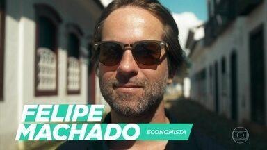 Felipe Machado mudou de vida ao optar pelo trabalho remoto, e direto do mar - O programa exibe um minidocumentário sobre o economista Felipe Machado. O profissional optou por trabalho remoto, e direto do mar, para ter mais tempo para si