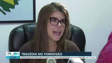 Polícia apura se cigarro pode ter provacado incêndio que matou idosa de 75 anos em Campos - Caso aconteceu no Formosão.