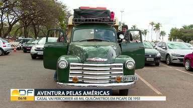 Aventura rumo ao Alasca - Casal reformou uma picape de 1951 para percorrer as Américas. Para economizar, os dois vão morar no veículo durante o trajeto. O ponto de partida será Brasília.