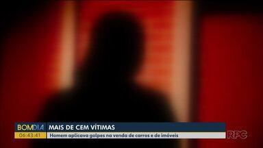 Vítimas denunciam golpista após ver reportagem na RPC - Uma delas se envolveu com o homem e teve uma filha com ele, que foi preso.
