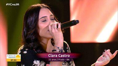Cantora baiana brilha na noite de estreia do programa The Voice Brasil - A jovem é natural de Prado, no extremo sul da Bahia, mas atualmente vive em Minas Gerais.