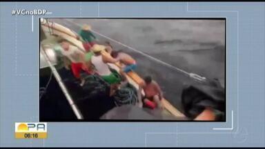 Um mês após acidente em embarcação pescadores falam do momento de sufoco que viveram - Pescadores contam como passaram a noite à deriva.
