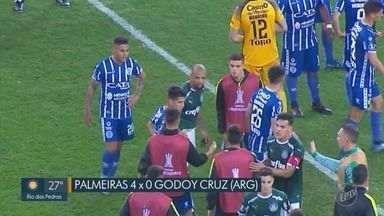 Palmeiras goleia Godoy Cruz e avança na Libertadores - Verdão se impôs em casa e despachou os argentinos pelas oitavas de final da Libertadores.