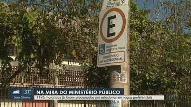 MP já processou 1.196 motoristas por estacionamento irregular em Ribeirão Preto - Infratores que param em vagas especiais sem permissão são multados pela Transerp.
