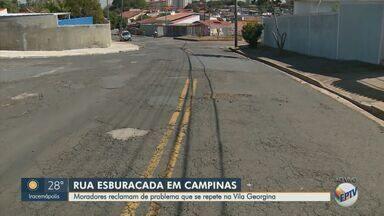 Ruas esburacadas fazem motoristas elevarem gastos com manutenção - Em Campinas (SP), diversas ruas apresentam situações problemáticas para os motoristas, que sentem os principais problemas no bolso.