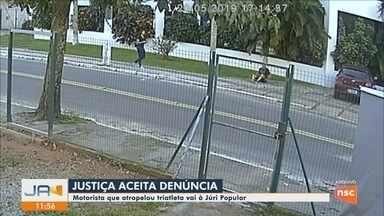 Justiça aceita denúncia contra motorista acusado de atropelar triatleta em Florianópolis - Justiça aceita denúncia contra motorista acusado de atropelar triatleta em Florianópolis