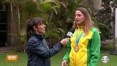 Pan-Americano: direto de Lima, Duda fala sobre a conquista do hexa no handebol feminino - Pan-Americano: direto de Lima, Duda fala sobre a conquista do hexa no handebol feminino
