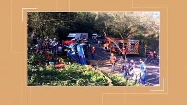 Acidente grave deixa um morto e outro ferido em Nonoai - A suspeita é de falta de freios em um dos veículos envolvidos.