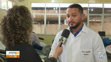 """Hemocentro de Roraima faz nova campanha para doação em Boa Vista - Todas as tipagens sanguíneas estão em falta, mas os principais são """"O positivo"""" e """"O negativo""""."""