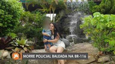 Policial baleada na BR-116 é enterrada nesta sexta-feira (2) - Cristina Gonçalves Lucas, de 39 anos, estava em um carro com a família, a caminho de Porto Alegre, quando levou um tiro na cabeça. Crime é investigado, e suspeito já foi identificado.