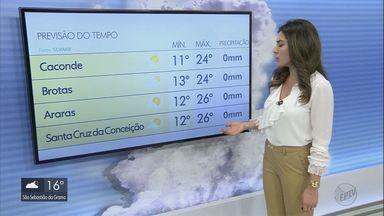 Confira a previsão do tempo para a região na terça-feira - Confira a previsão do tempo para a região na terça-feira