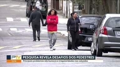Pesquisa revela hábitos dos pedestres de SP - O principal hábito é a ida até a padaria, e a caminhada dura 15 minitos.