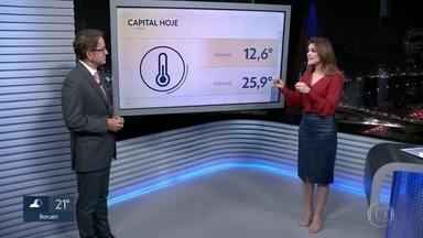 As temperaturas continuam subindo nesta quarta-feira - Amanhã a máxima prevista é de 27°