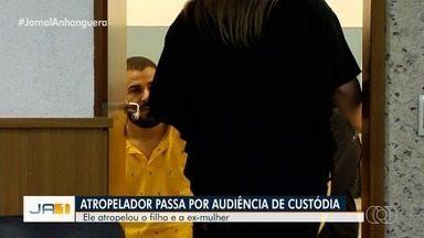 Justiça mantém prisão de homem suspeito de atropelar a ex-mulher e o filho, em Goiânia - Cristiano Barbosa Ferreira, de 33 anos, foi preso em flagrante na terça-feira. Ele teria atropelado as vítimas por não aceitar o fim do relacionamento com a ex.