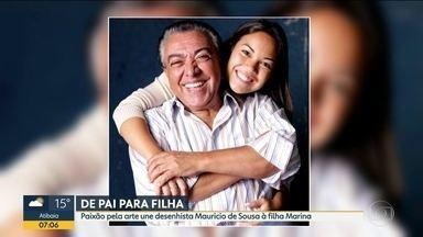 Dia dos Pais no BDSP - De Pai para Filha: paixão pela arte une Maurício de Sousa à filha Marina